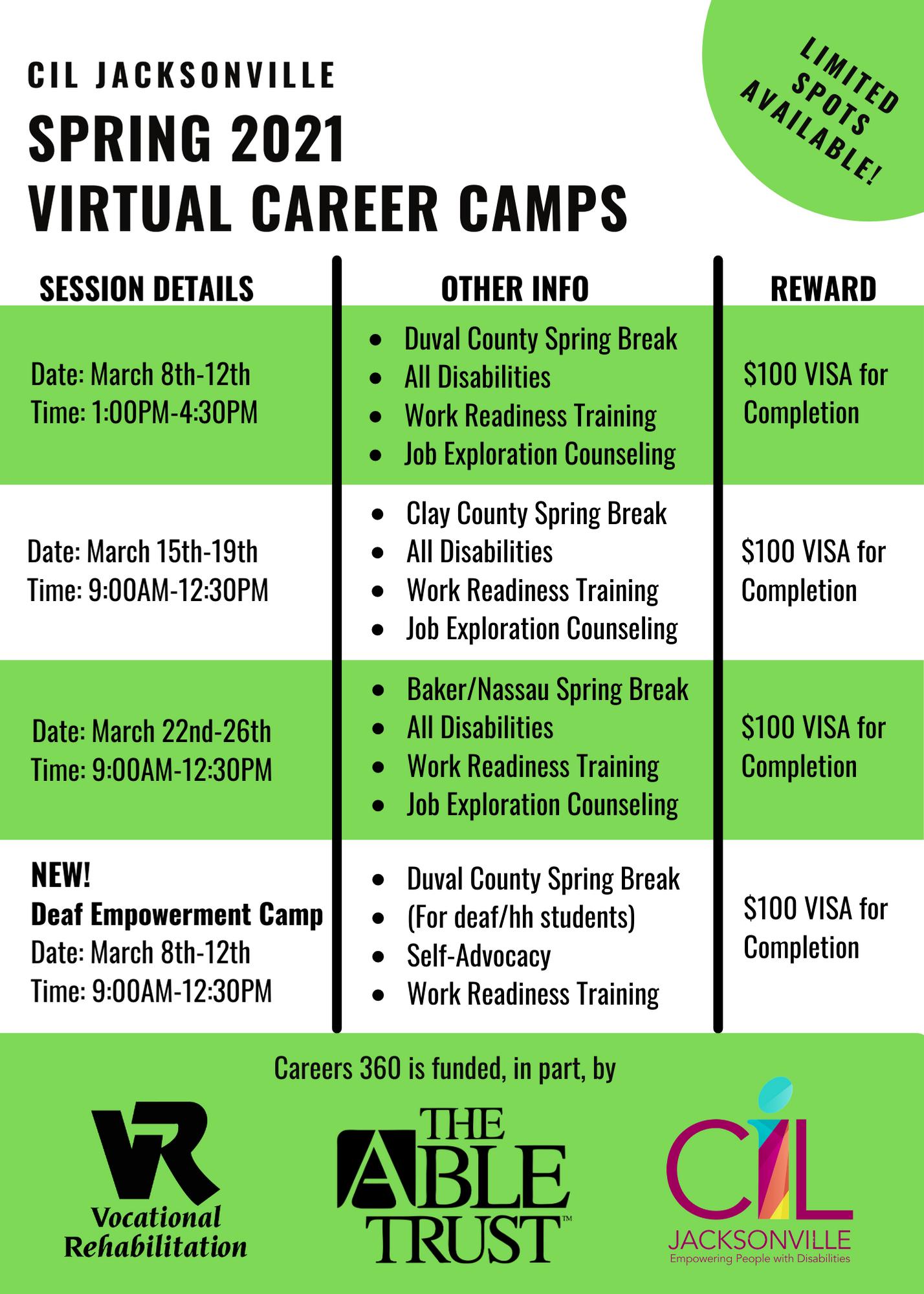 General Public CIL Camps Spring 2021 (2)